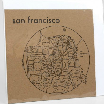 LETTER PRESS PRINT SAN FRANCISCO (black on brown)