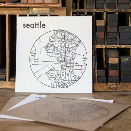 LETTER PRESS PRINT SEATTLE (black on white)
