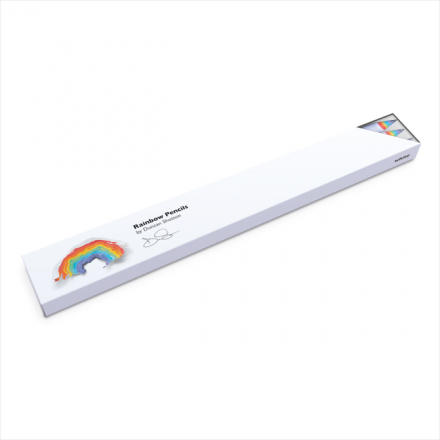 Rainbow Pencils 3PK White