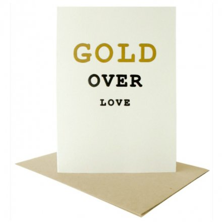 POST CARD Gold Over Love (サイズS)