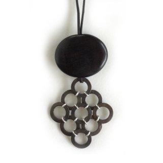 銅斑紋 9hoopネックレス黒