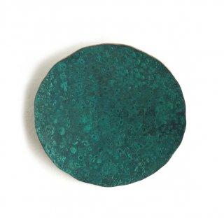 斑紋 円ブローチ大緑