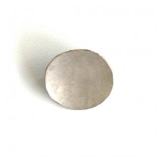 斑紋 円ブローチ小銀