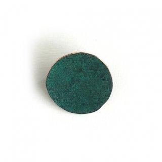 斑紋 円ブローチ小緑