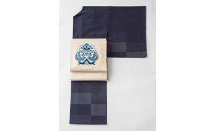 シック「単衣」福袋(塩沢紬×しゃれ袋帯)