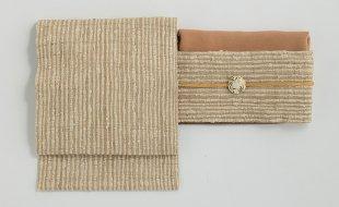「月日荘」名古屋帯(インド野蚕糸)+小物福袋