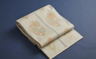 白地更紗文織袋帯
