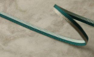 バイカラー リバーシブル二分半紐 青竹色×水色
