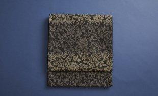 黒グレー唐草袋帯
