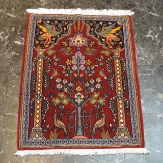 ペルシャ絨毯 玄関サイズ(88cm×65cm) クム産 36