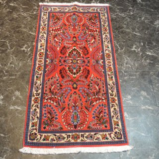 ペルシャ絨毯 玄関サイズ(136cm×67cm) サルーク産 4028