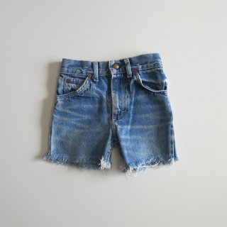 used denim cut off shorts