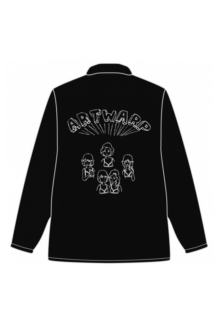 COACH JACKET<div>-BLACK×WHITE-</div>