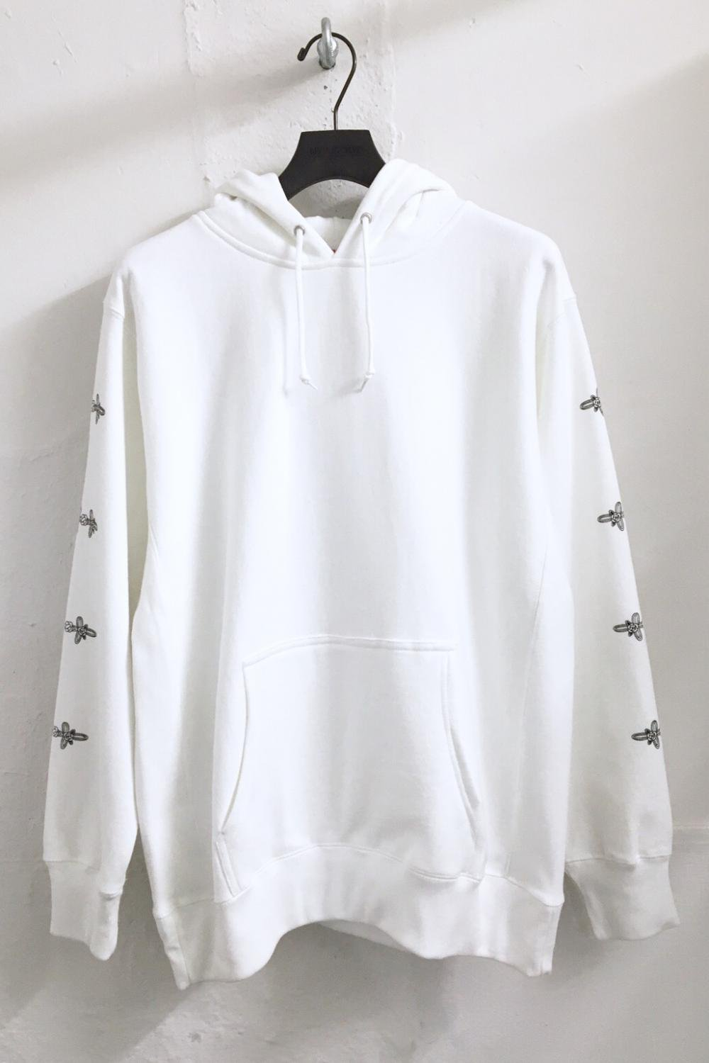 CHINA BUTTON<br />HOODIE<br />WH / GY / BK