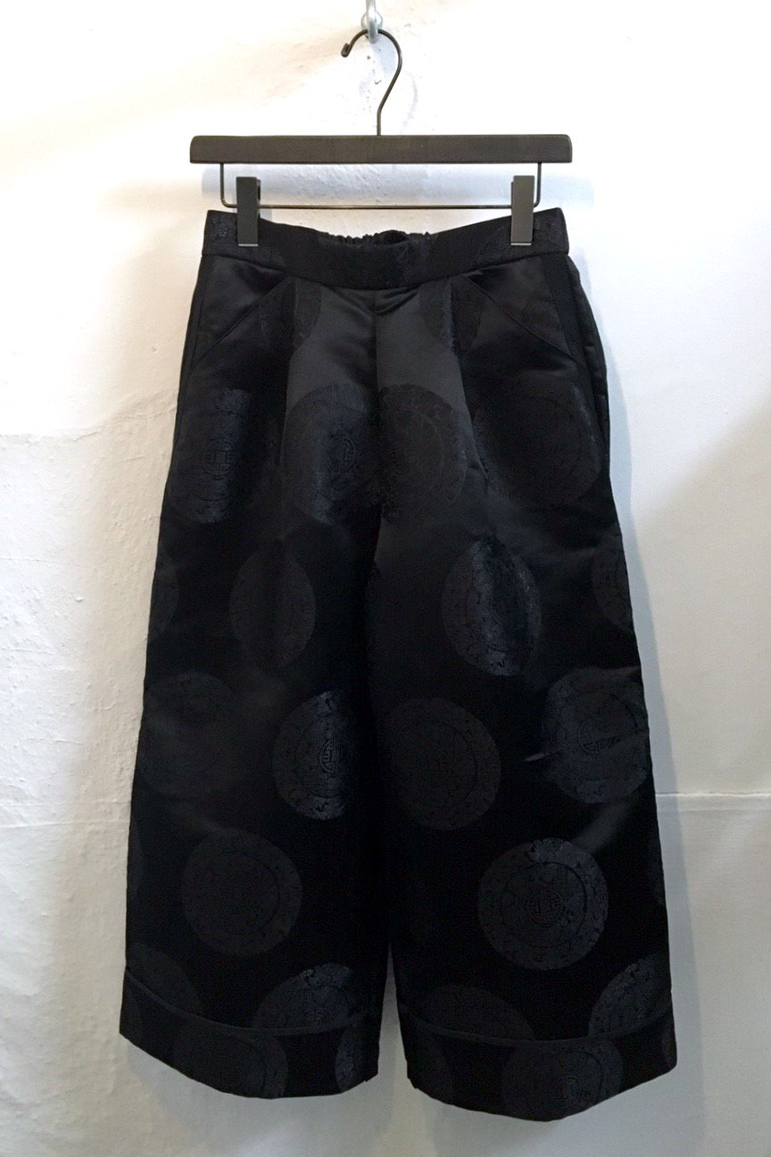 WIDE PANTS  -BLACK CIRCLE-