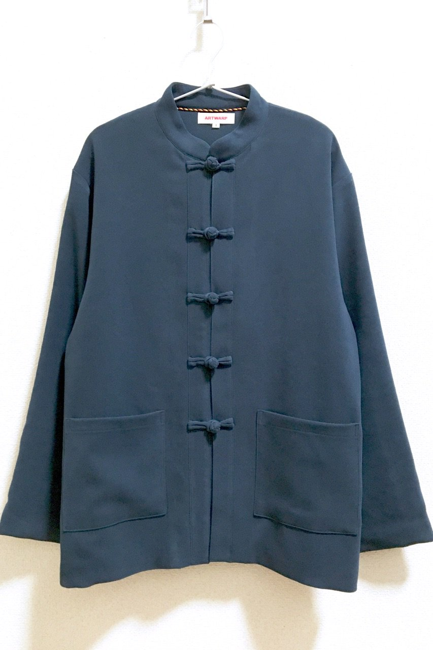 CHINA BUTTON JACKET<br />BL / BK / BR <img class='new_mark_img2' src='https://img.shop-pro.jp/img/new/icons15.gif' style='border:none;display:inline;margin:0px;padding:0px;width:auto;' />