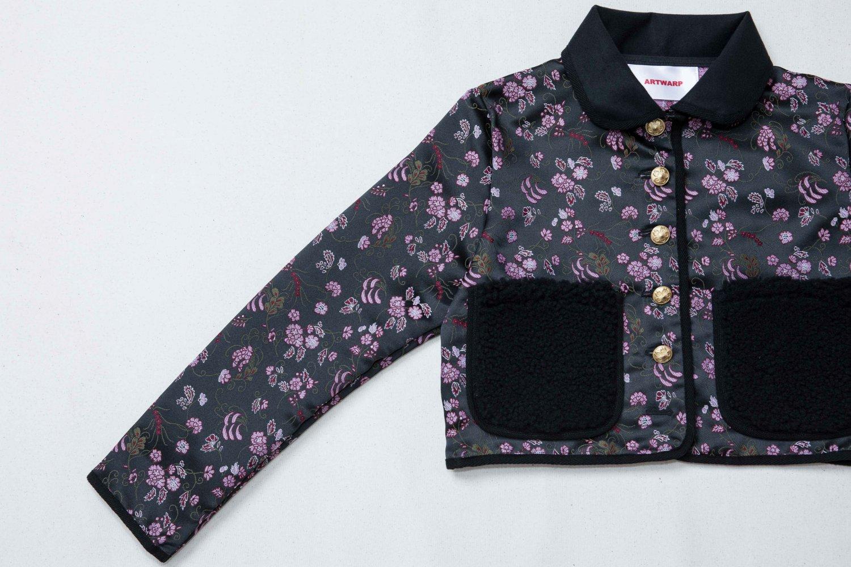 FLOWER JACKET<br />-BLACK FLOWER-