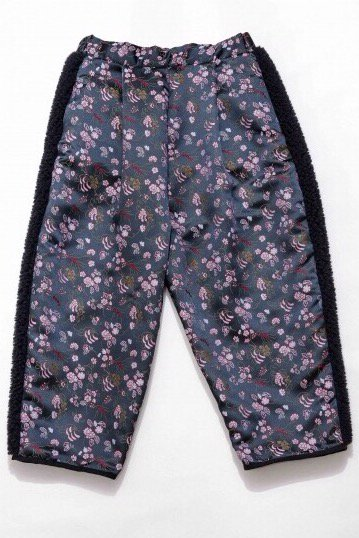 BOA PANTS<br />-BLACK FLOWER-