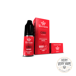 600mg Dr Watson Strawberry Diesel e-liquid 10ml