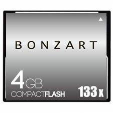 CFカード 4GB X133<br>BONZART ボンザート<br>コンパクトフラッシュ 4ギガ 133倍速<br>永久保証付き