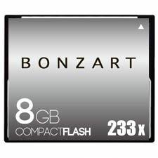 CFカード 8GB X233〜X400<br>BONZART ボンザート<br>コンパクトフラッシュ 8ギガ<br>永久保証付き