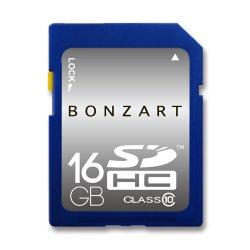 SDカード 16GB CLASS10<br>BONZRT ボンザート<br>SDHC 16ギガ クラス10<br>永久保証付き (メール便対応)