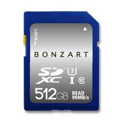 SDカード 512GB CLASS10 UHS-3<br>BONZRT ボンザート<br>SDXC 512ギガ クラス10 UHS-3<br>永久保証付き