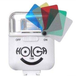ストロボ<br>HOLGA ホルガ 12S<br>ホワイト<br>カラーフィルター付き