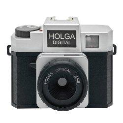 トイカメラ <br>HOLGA DIGITAL ブラック&シルバー<br>800万画素