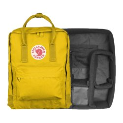 カメラバッグ<br>Kanken Photo Insert + Kanken バッグ<br>WARM YELLOW<br>FJALL RAVEN フェールラーベン