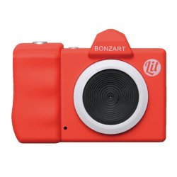 トイカメラ<br>BONZART Lit+ レッド<br>30万画素