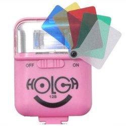 ストロボ<br>HOLGA ホルガ 12S<br>ピンク<br>カラーフィルター付き