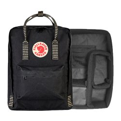 カメラバッグ<br>Kanken Photo Insert + Kanken バッグ<br>BLACK STRIPED<br>FJALL RAVEN