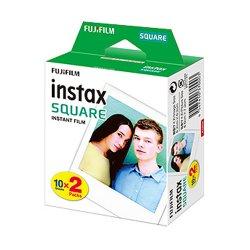 チェキSQUARE用フィルム<br>FUJIFILM instax SQUARE 2pack<br>10枚撮り×2