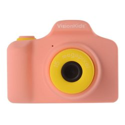 トイカメラ<br>VisionKids HappiCAMU ピンク<br>1500万画素