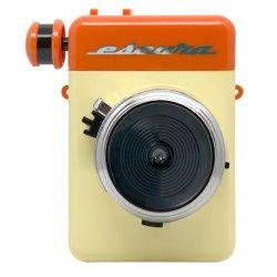 インスタントカメラ<br>Escura instant 60's オレンジ<br>手回しチェキfilm用カメラ