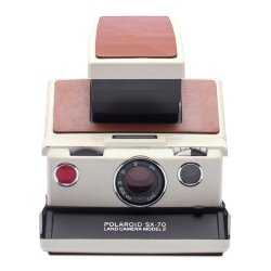 インスタントカメラ<br>Polaroid SX-70<br>MODEL2 ホワイト×ブラウン