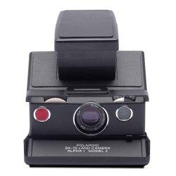 <br>インスタントカメラ<br>Polaroid SX-70<br>Alpha1 ブラック×ブラック