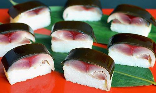 博多伝承の黄金さば寿司(五島産ときサバ)
