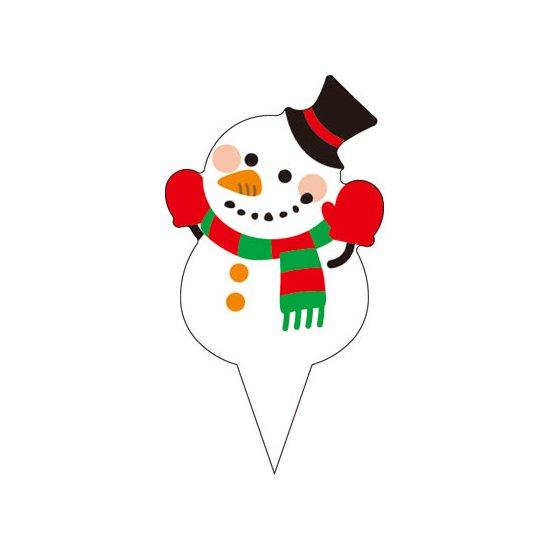 ピック D-0534 メリークリスマス(雪だるま) 200枚入