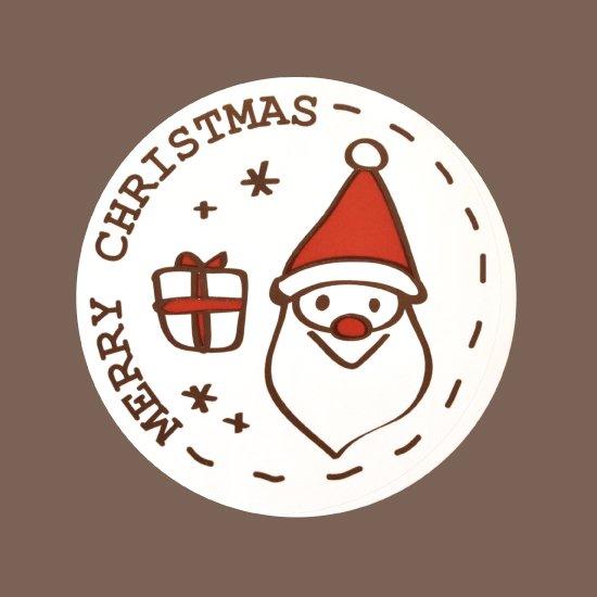 クリスマスシール ラウンド サンタ 100枚入
