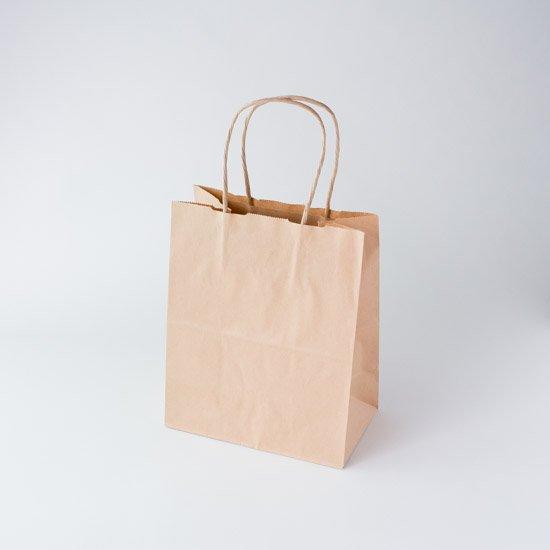 自動紐手提袋 T-1 茶無地 25枚入