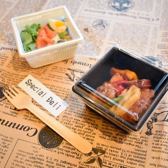 ミニサイズのお惣菜容器・正方形四角いSDキャセロ4K100-46