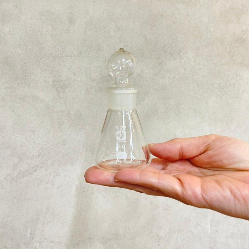 ガラス球栓付き 三角フラスコ  50ml