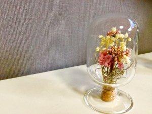 プリザードフラワーinタコびん(ピンク×ホワイト)