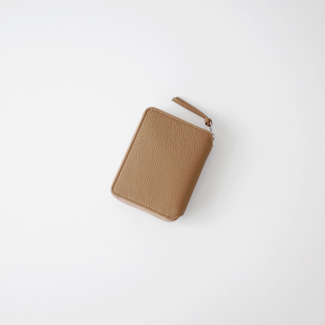 ERA. Bubble Calf Round Palm Wallet Taupe