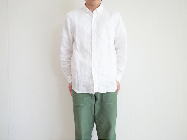 STANDART AT HAND Simon Linen B.D Shirts White