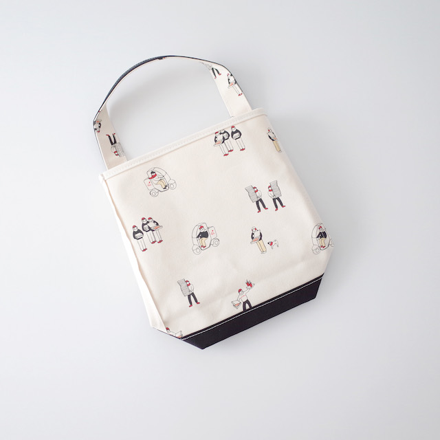 TEMBEA Baguette Tote Small Pizza ピザ柄