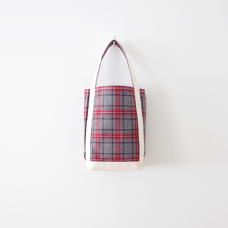TEMBEA テンベア Baguette Tote Small Wool Gray Check