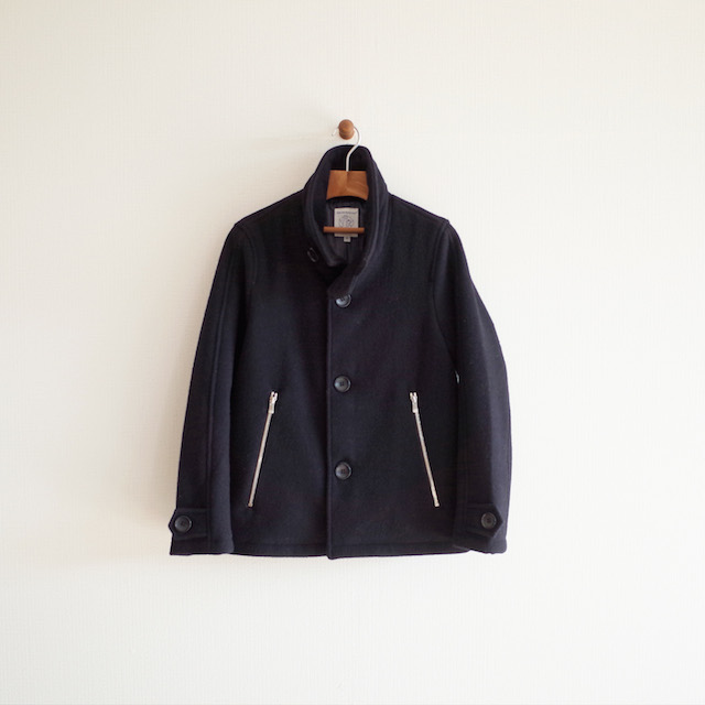Hervier Productions Single P Coat Navy